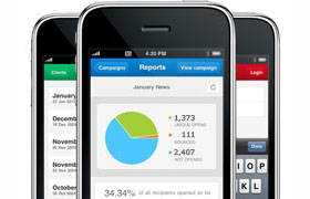 View your email reports on your mobile phone