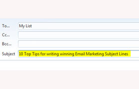 10 Top Tips for writing winning Email Marketing Subject Lines