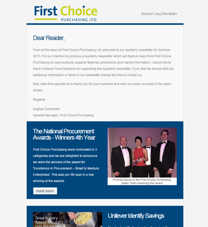 Newsletter Template Designs To Match Your Business Brand - Web design email marketing templates