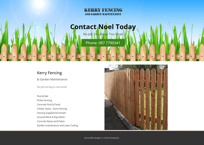 Kerry fencing for Garden design kerry